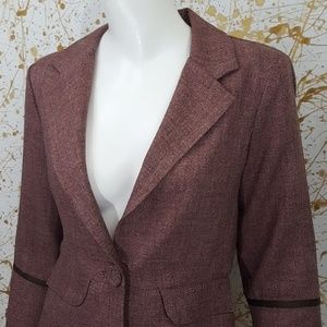 Matty M 3/4 sleeve blazer jacket size small
